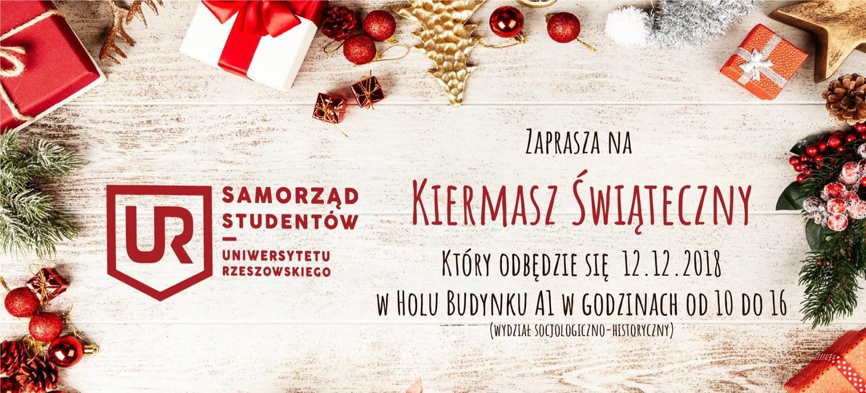 Kiermasz Świąteczny Wydziału Socjologiczno-Historycznego Uniwersytetu Rzeszowskiego
