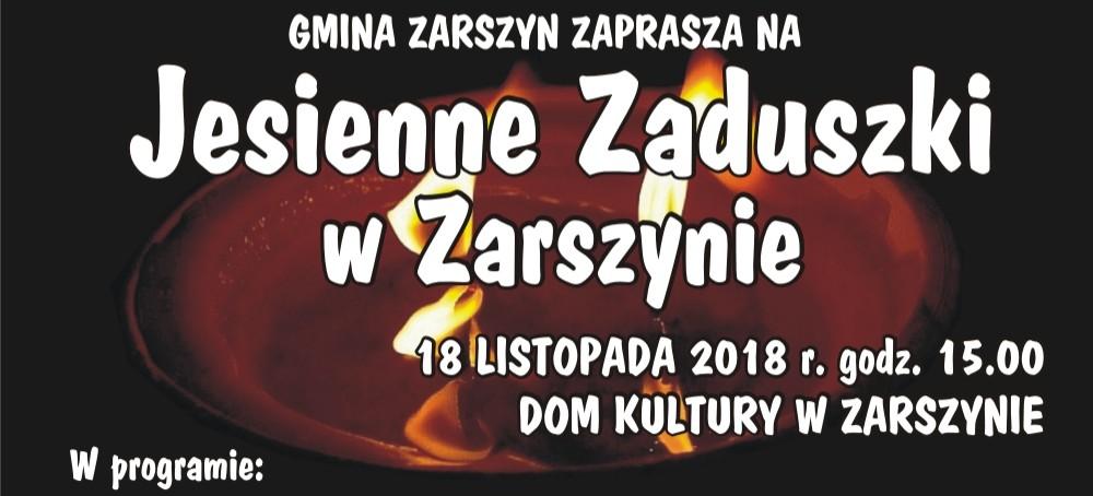 Jesienne zaduszki w Zarszynie
