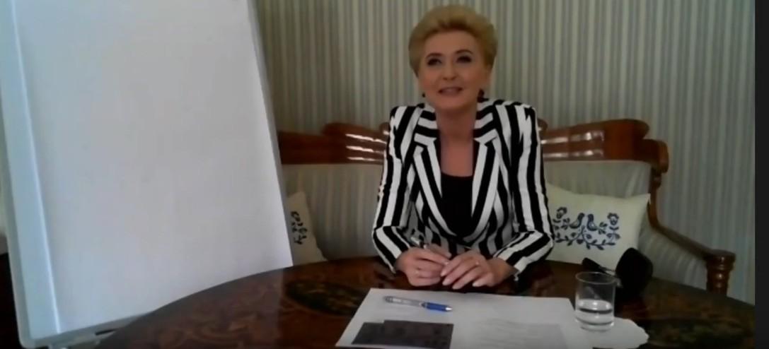 Pierwsza Dama RP na lekcji języka niemieckiego w rymanowskim LO