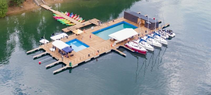 Pływające baseny, szkółka żeglarska, wypożyczalnia jachtów otwarte! (VIDEO, ZDJĘCIA)