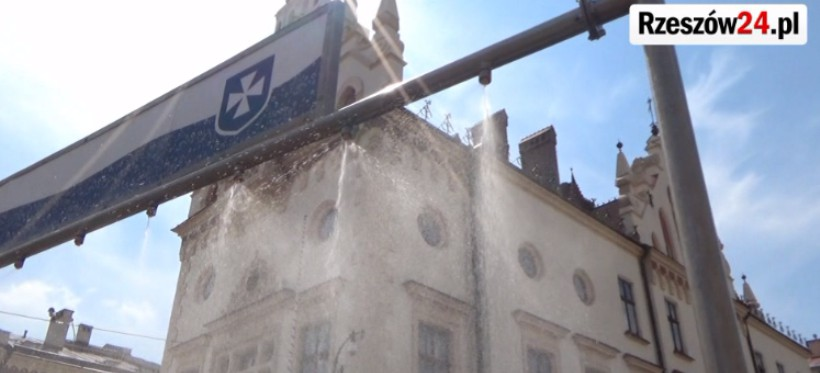 Niecodzienny sposób na ochłodę w Rzeszowie (FILM)