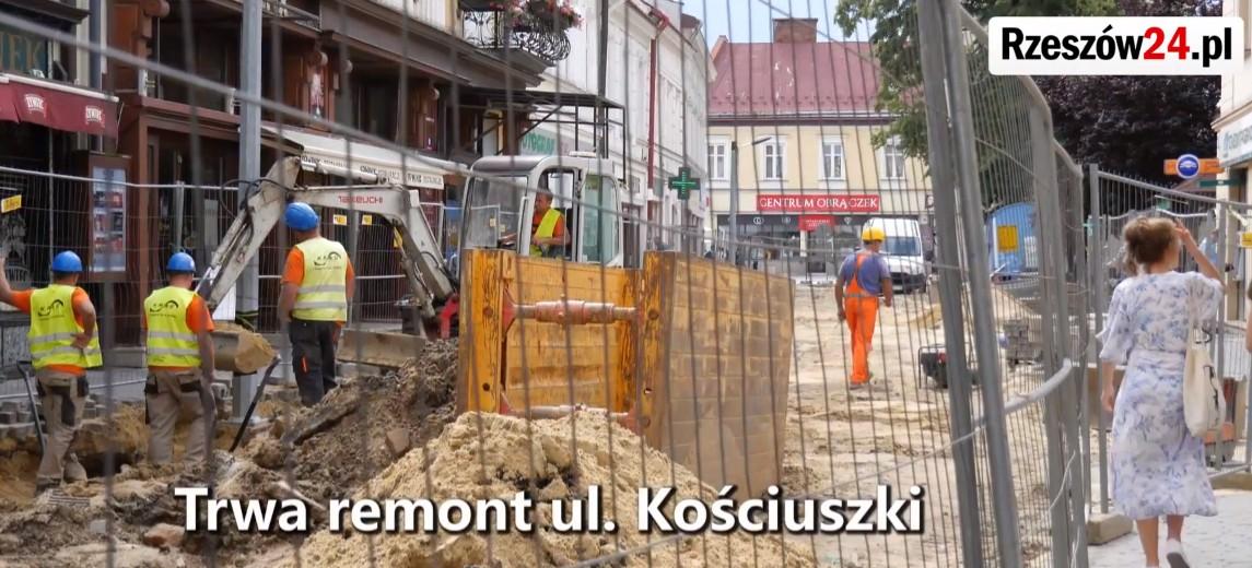 Remont ulicy Kościuszki w Rzeszowie (FILM)