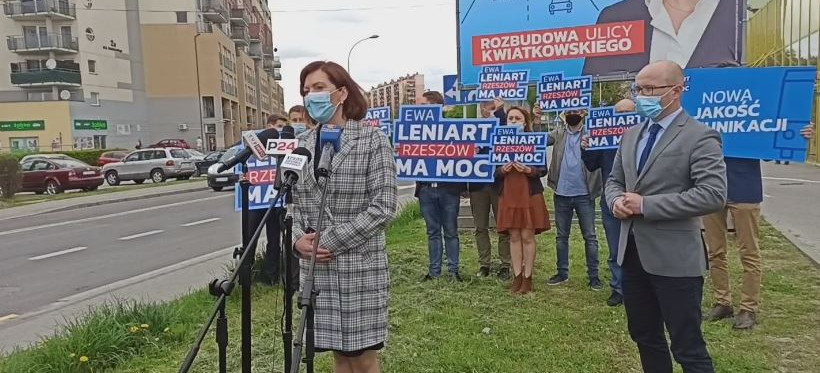 Ewa Leniart chce rozbudować ul. Kwiatkowskiego. Celem poprawa bezpieczeństwa i płynności ruchu (VIDEO)