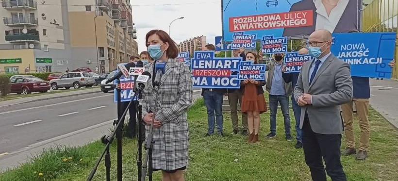 Ewa Leniart chce rozbudować ul. Kwiatkowskiego. Celem poprawa bezpieczeństwa i płynności ruchu (VIDEO)