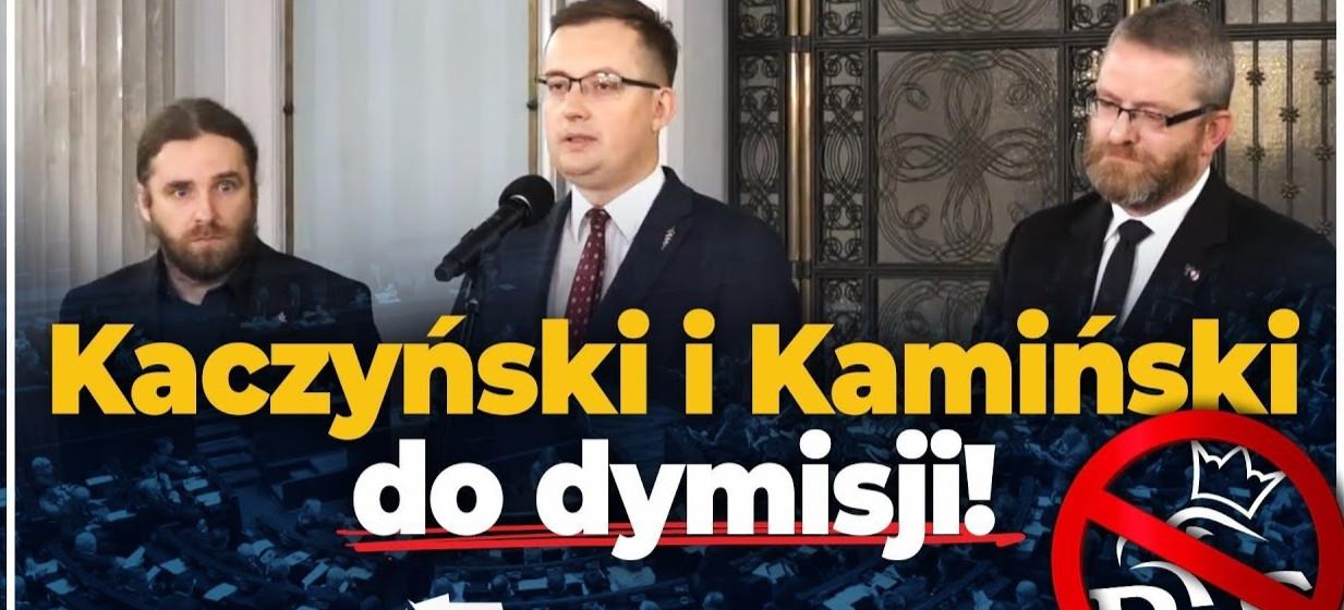 POLICYJNA PROWOKACJA PODCZAS MARSZU NIEPODLEGŁOŚCI?  Konfederacja domaga się DYMISJI Kaczyńskiego i Kamińskiego! (zobacz VIDEO)