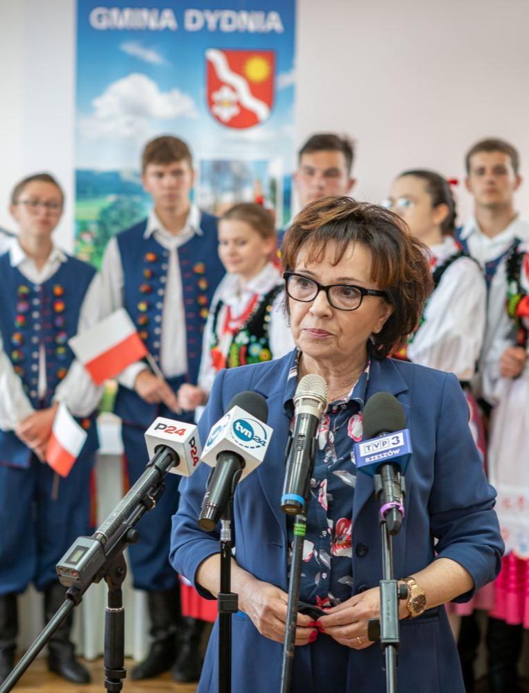Marszałek Sejmu w gminie Dydnia: Chcemy osiągnąć poziom zamożności Zachodniej Europy (VIDEO, ZDJĘCIA)