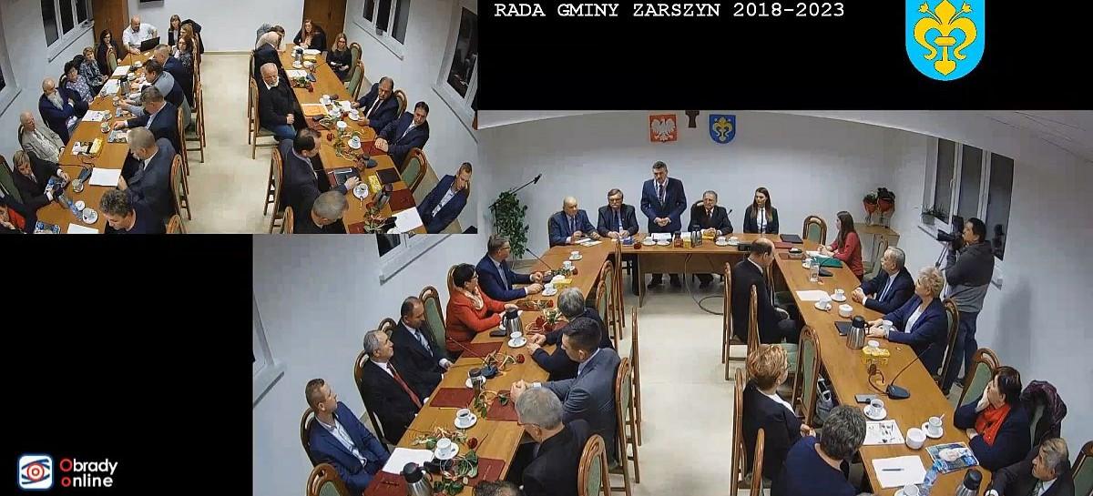 DZISIAJ: Sesja w Zarszynie. Wybory wiceprzewodniczących i składów komisji
