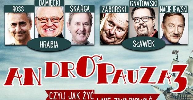"""GOK W RYMANOWIE ZAPRASZA: Przedstawienie teatralne """"Andropauza 3"""""""