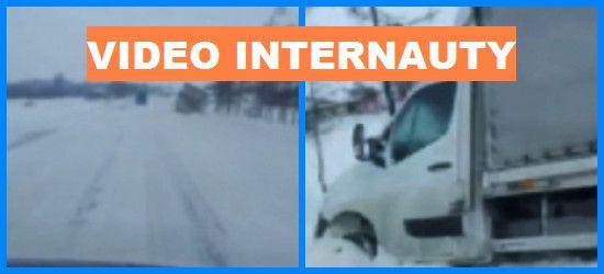 BESKO-RYMANÓW: Mocno wieje! Dostawczak w rowie. Uważajcie! (VIDEO)