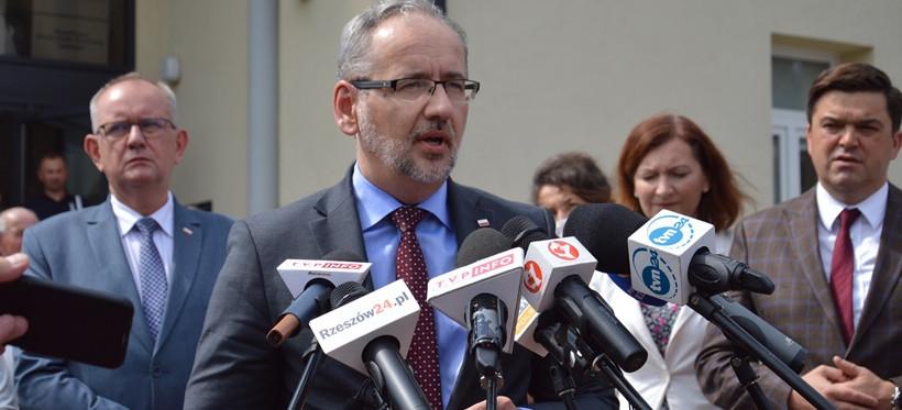JEŻOWE. Minister zdrowia namawiał do szczepień. Były protesty! (VIDEO, ZDJĘCIA)