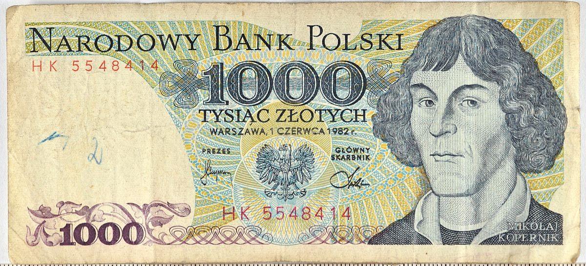 Chciał zapłacić  historycznym banknotem 1000-złotowym