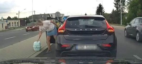 Niecodzienna sytuacja na drodze w regionie. Co tutaj się wydarzyło?! (VIDEO)