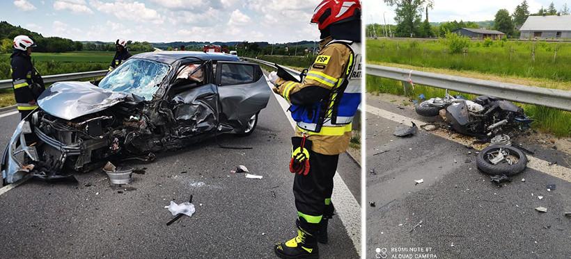 PODKARPACIE. Tragiczny wypadek! Nie żyje motocyklista (ZDJĘCIA)