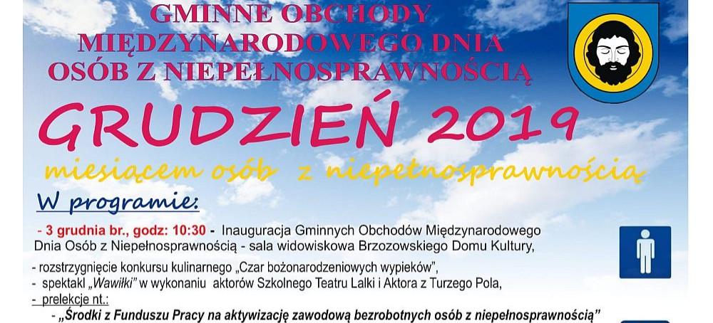 BRZOZÓW: Międzynarodowy Dzień Osób z Niepełnosprawnością. SPRAWDŹ PROGRAM!