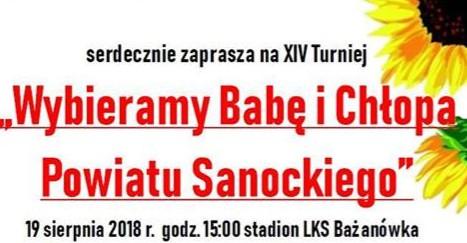 Wybieramy Babę i Chłopa Powiatu Sanockiego w Gminie Zarszyn