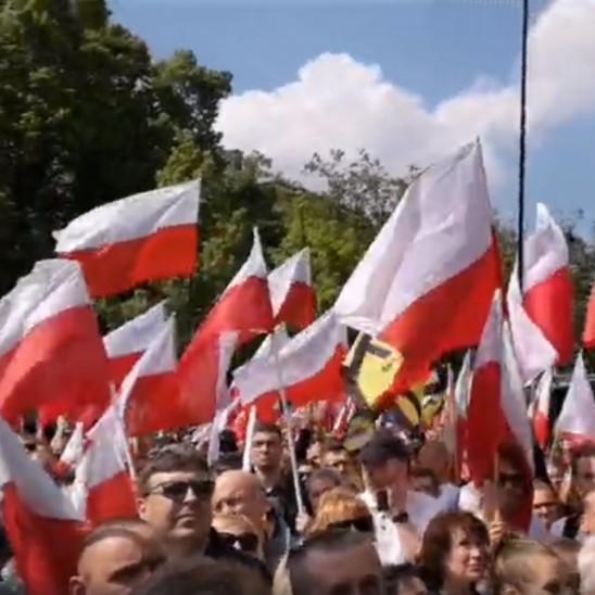WARSZAWA: Marsz przeciwko roszczeniom żydowskim Akt. 447 JUST!  Transmisja VIDEO LIVE!