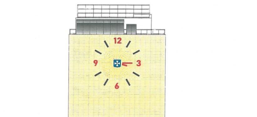 Zegar z herbem Rzeszowa na biurowcu przy alei Rejtana? (FOTO)