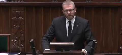 Grzegorz Braun o przymusie szczepień i policji sanitarnej