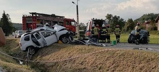 NIEBYLEC. Poważny wypadek na krajówce. Dwie osoby ranne (ZDJĘCIA)