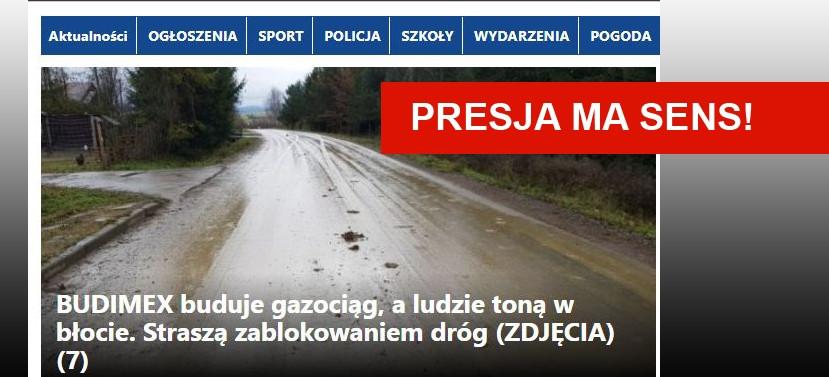Nasza interwencja: Spółka BUDIMEX naprawi szkody i będzie czyścić drogi