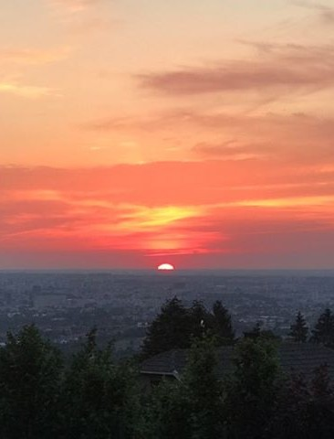 RZESZÓW: Przepiękny zachód słońca na Słocinie! (ZDJĘCIE)