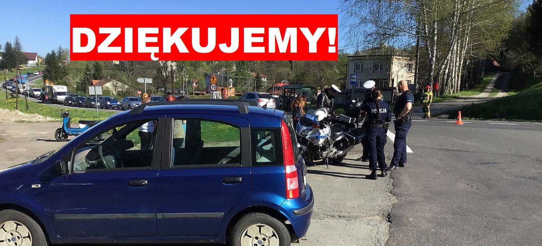 Wypadek w Zahutyniu. Rodzina poszkodowanego dziękuję świadkom wypadku