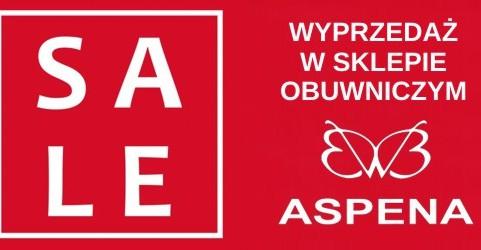 WYPRZEDAŻ w sklepie obuwniczym ASPENA! RABATY od -30% do -80% !!!
