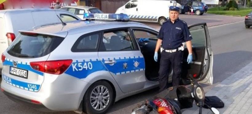 REGION: Ukradł motorower, grożąc śrubokrętem. Wcześniej poruszał się kradzionym rowerem