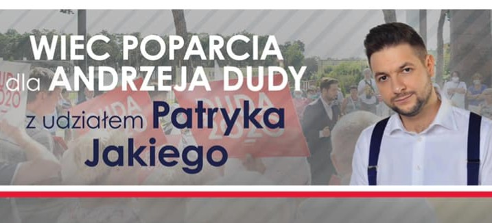 Patryk Jaki na Podkarpaciu. Wiece poparcia dla Andrzeja Dudy