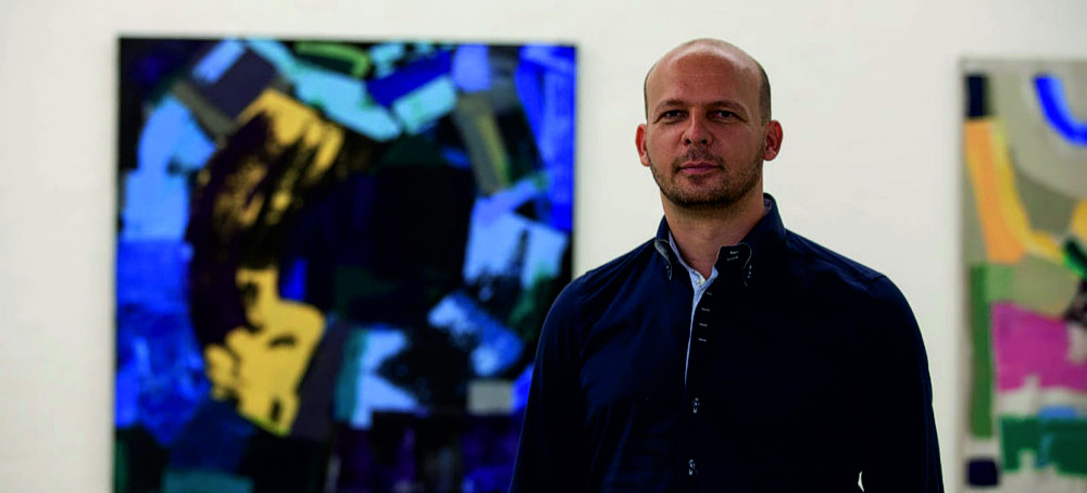 Tomasz Wooj, malarstwo abstrakcyjne. Wystawa