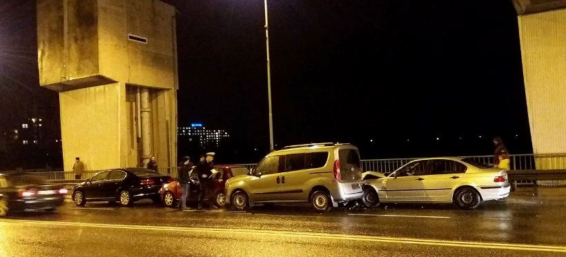 RZESZÓW: Karambol na zaporze z udziałem 4 samochodów! (FOTO)