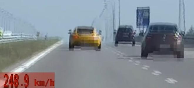 PODKARPACIE: Pędził przez autostradę z prędkością 248 km/h! (ZOBACZ FILM)