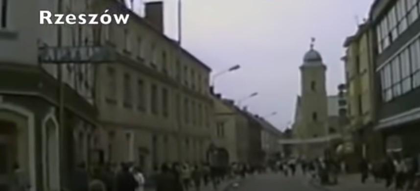 Zobacz, jak wyglądał Rzeszów 30 lat temu! Unikalne amatorskie nagranie miasta! (WIDEO)