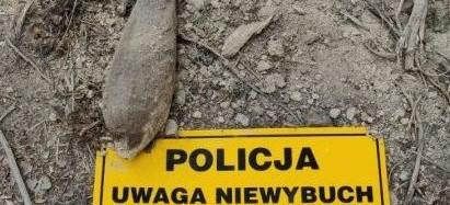 Pocisk moździerzowy odnaleziony w Bieszczadach