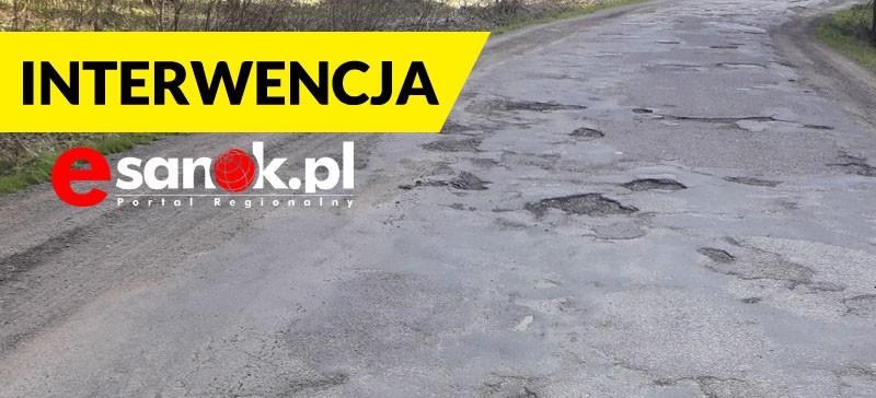 """INTERWENCJA: Potrzebny remont drogi w Lisznej. """"Jest w opłakanym stanie"""" (ZDJĘCIA)"""