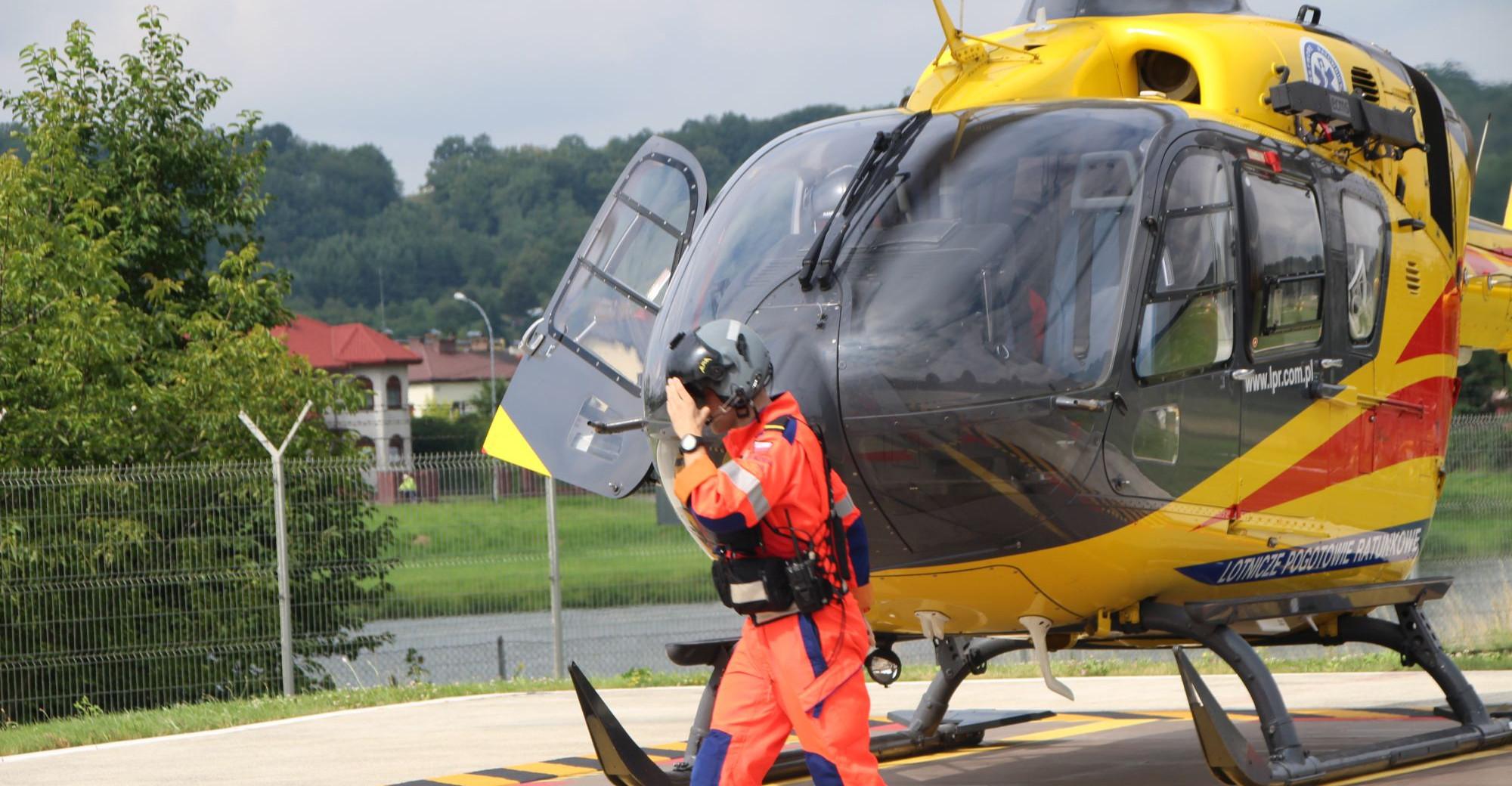 Reanimacja 11-latka po wypadku na obwodnicy. LPR Sanok w akcji (VIDEO)