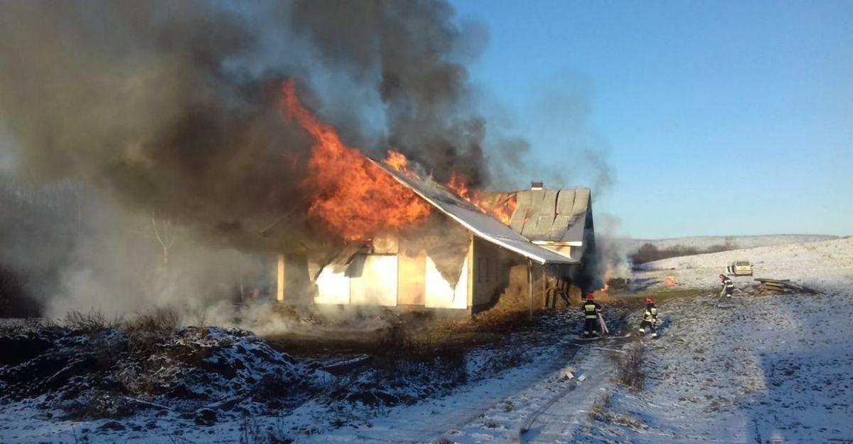 AKTUALIZACJA: 50 strażaków walczyło z pożarem. Ostatnie jednostki wróciły nad ranem (ZDJĘCIA)