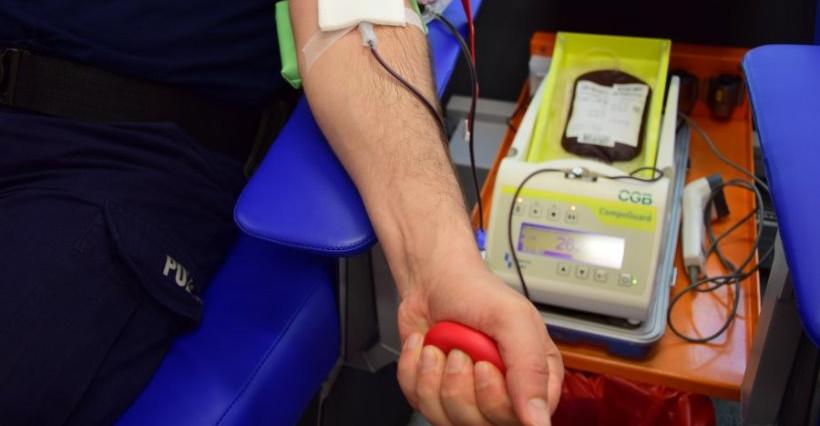Rzeszowscy policjanci oddali 36 litrów krwi w 2020 roku