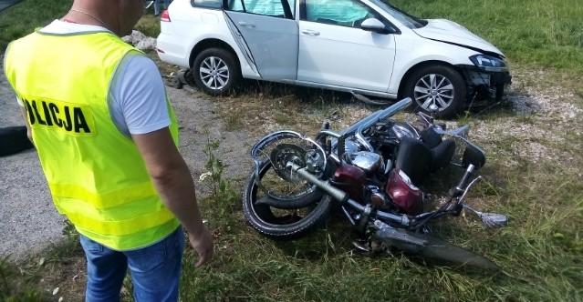 PODKARPACIE: Tragiczny wypadek. Nie żyje motocyklista! (ZDJĘCIE)
