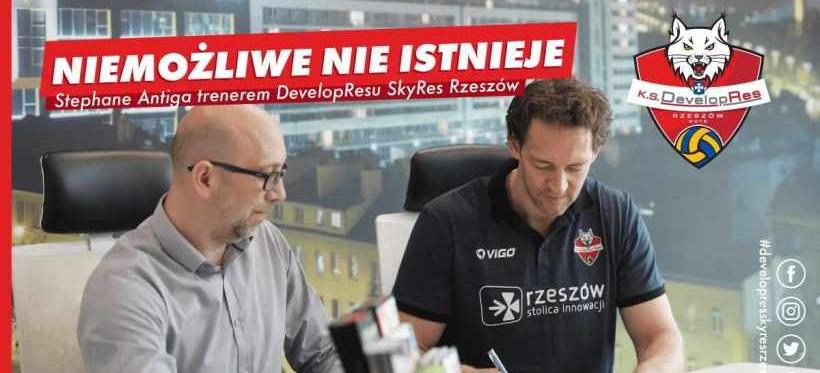 Stephane Antiga został nowym trenerem Developresu Skyres Rzeszów!
