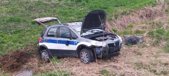 24-latka jechała za szybko. Samochód wypadł z drogi i dachował (ZDJĘCIA)