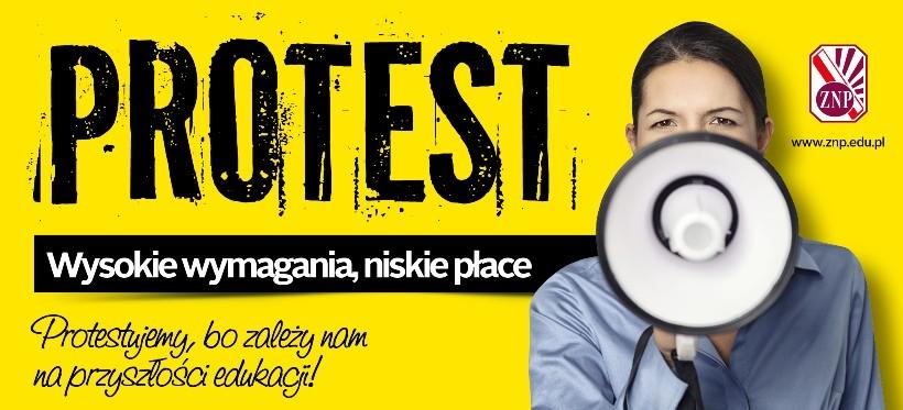 RZESZÓW: Pikieta poparcia dla protestu nauczycieli