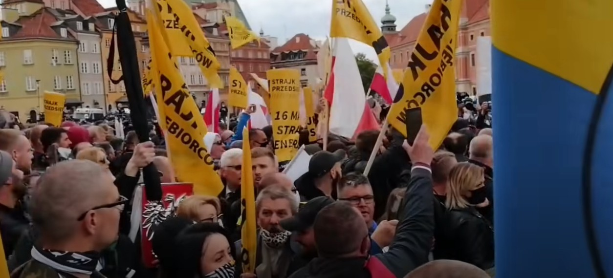 SKANDALICZNA  interwencja policji na proteście przedsiębiorców w Warszawie?