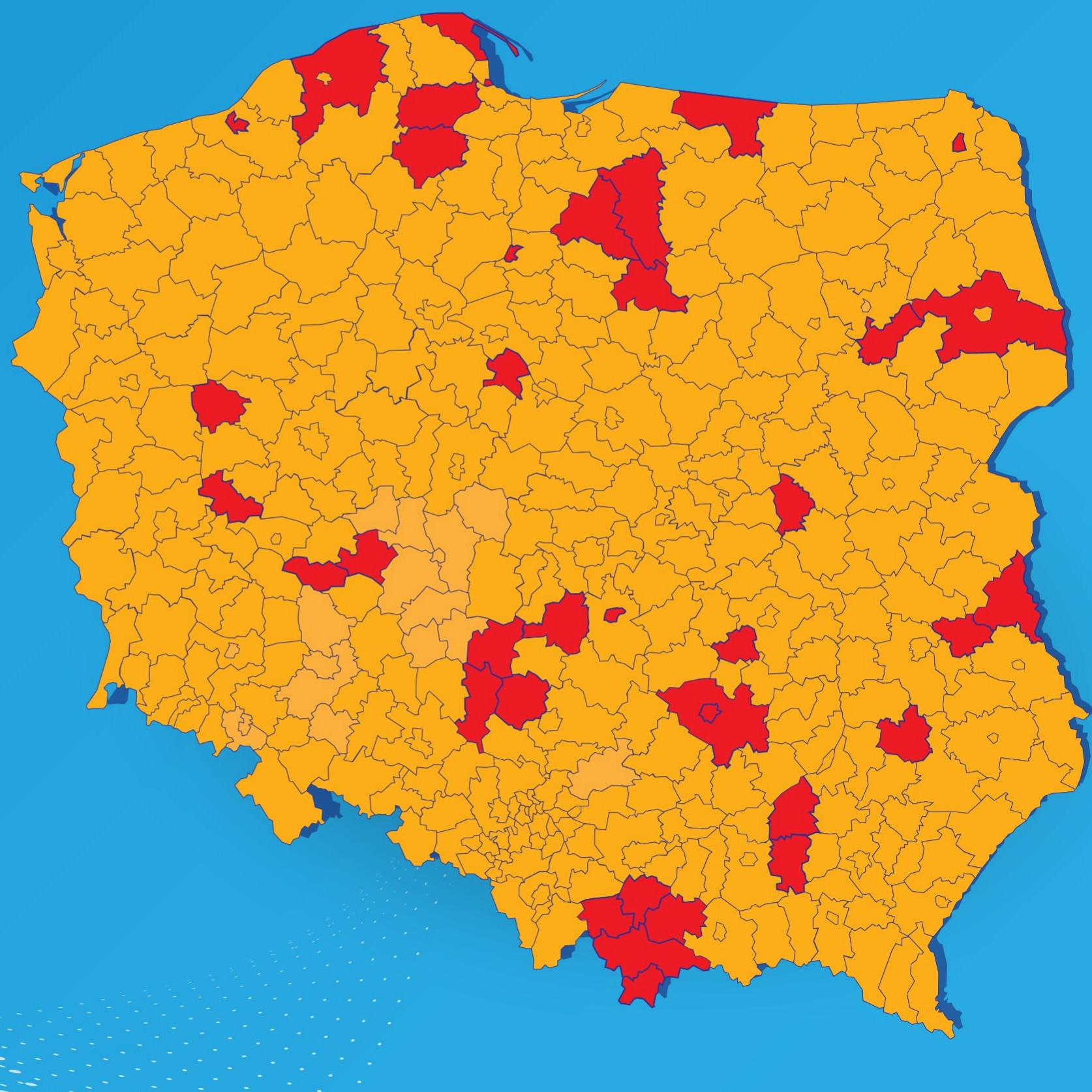 Cały kraj w żółtej strefie! Wracają niektóre obostrzenia