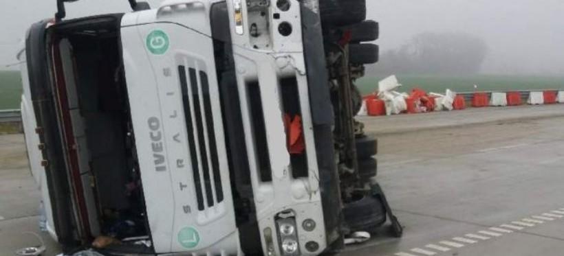 Pijany kierujący ciężarówką spowodował wypadek w Chotyńcu