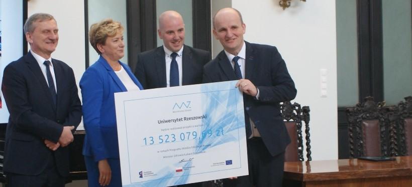 13,5 mln zł dla UR na budowę Centrum Symulacji Medycznej