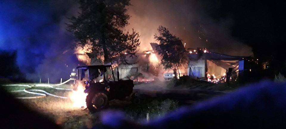 Potężny pożar w Dydni (ZDJĘCIA)