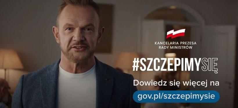 COVID-19. Cezary Pazura ambasadorem kampanii #SzczepmySię (WIDEO)