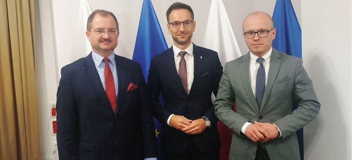 Radni PiS rozmawiają z wiceministrem Waldemarem Budą o środkach na nowy park pomiędzy ul. Podwisłocze a Wisłokiem