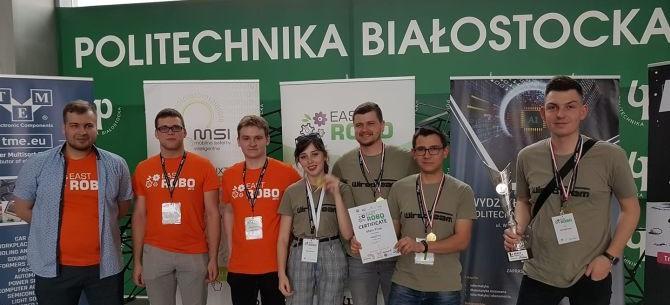 Studenci UR najlepsi w międzynarodowym konkursie East Robots 2019!